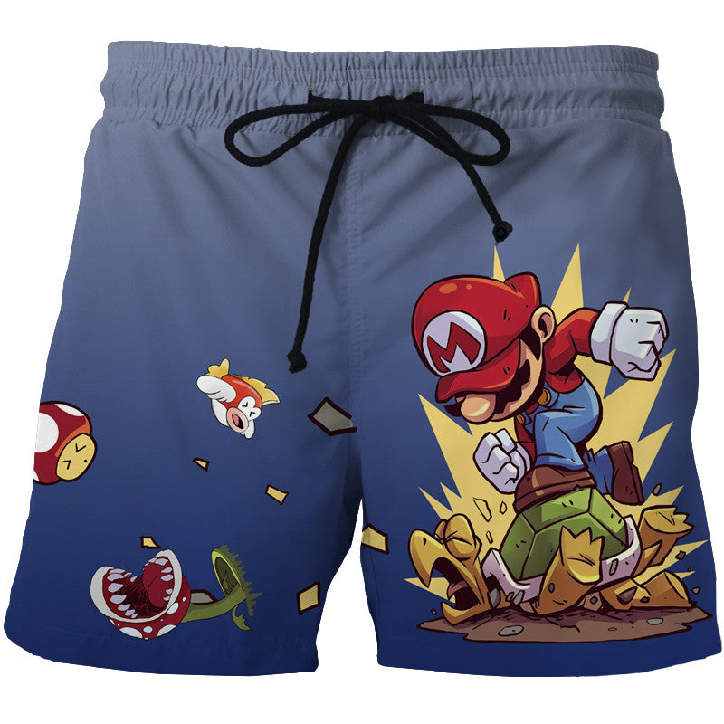 Mario High Quality 3D Print Summer Shorts Men's Beach Shorts