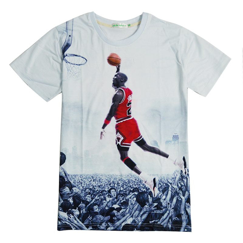 Jordan All Over Print Short Sleeve 3D Shirt