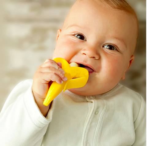 Image of Banana Silicone Baby Toothbrush