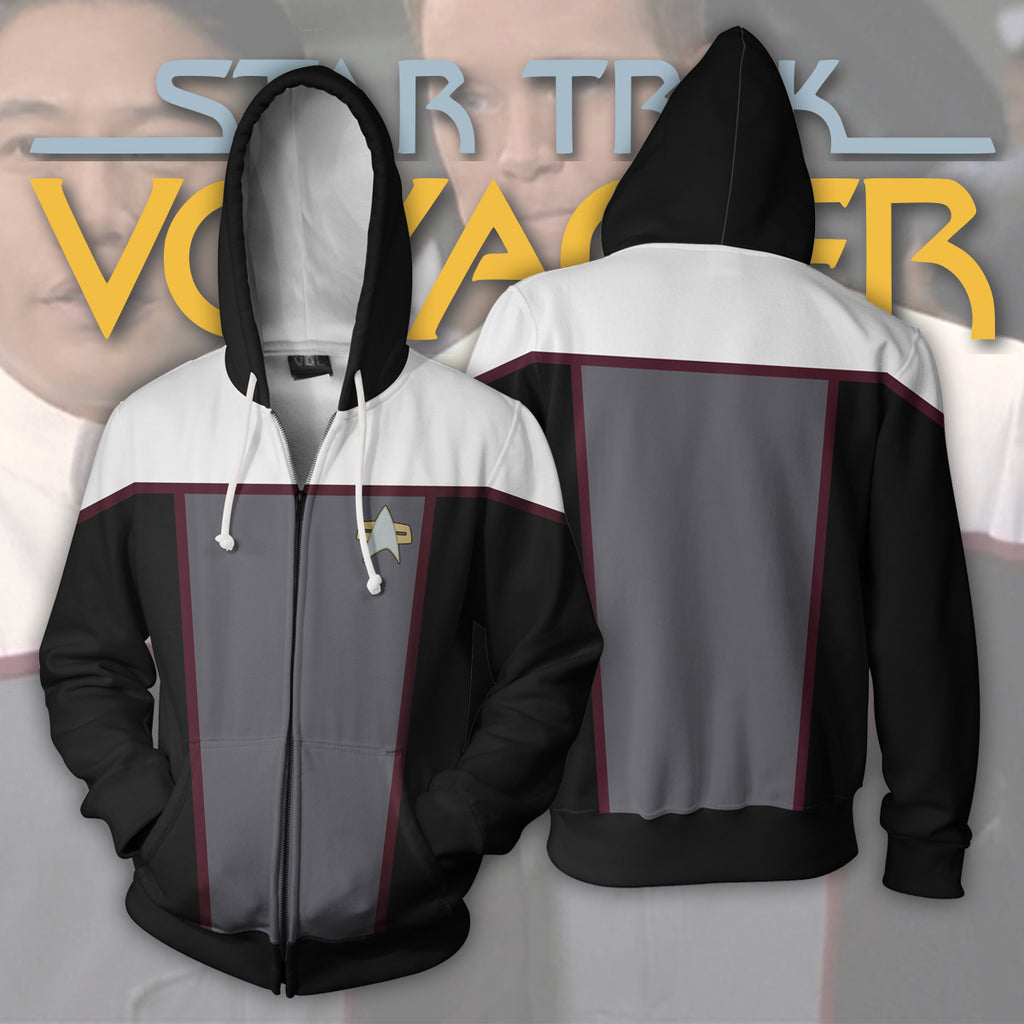 Star Trek Voyager Drive Zip Up Hoodie