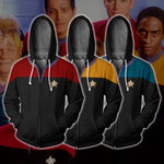 Star Trek Voyager Uniform Zip Up Hoodie