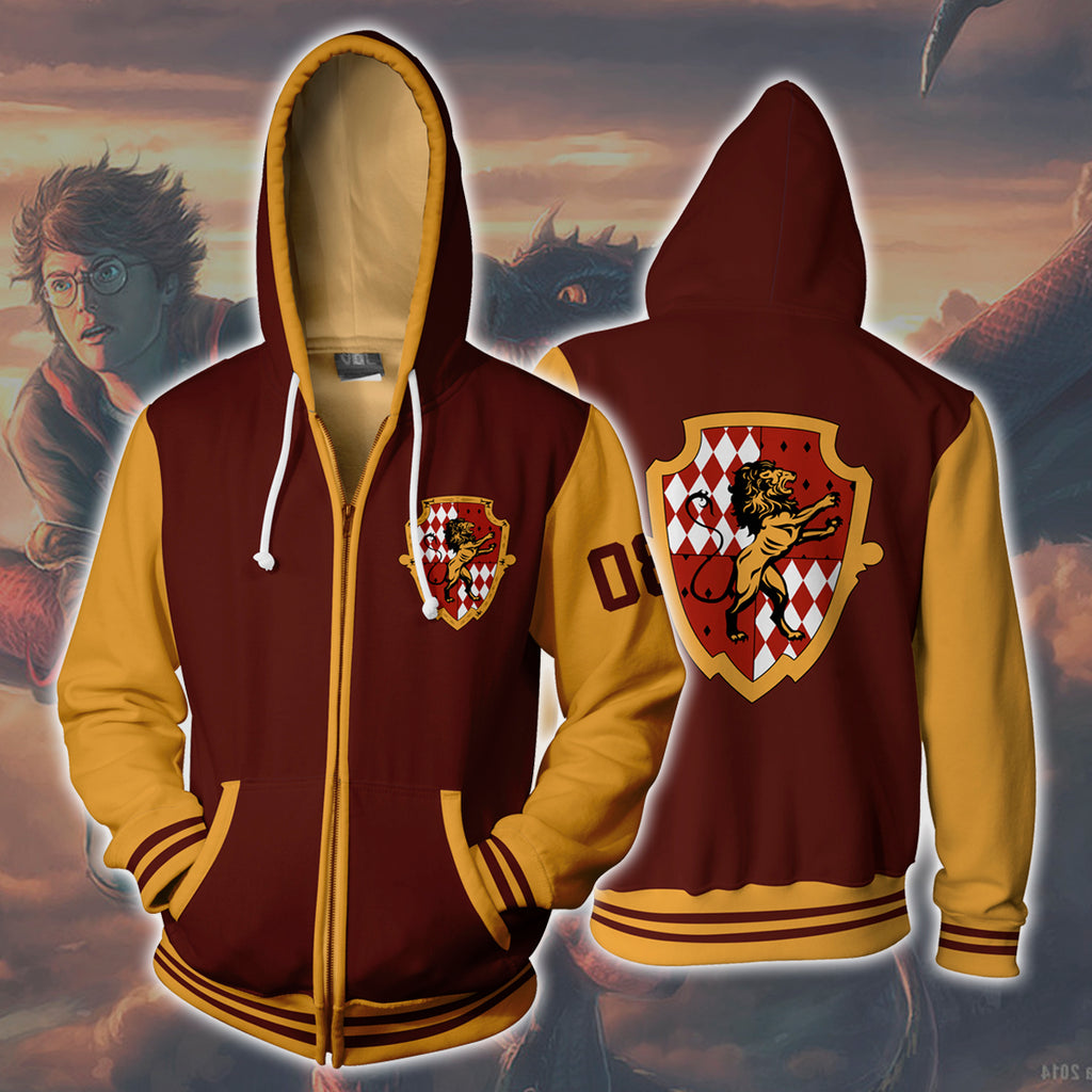 Harry Potter Gryffindor Zip Up Hoodie