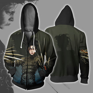 Edward Scissorhands Zip Up Hoodie
