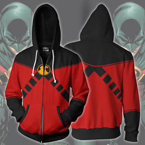 Red Robin Tim Drake Zip Up Hoodie