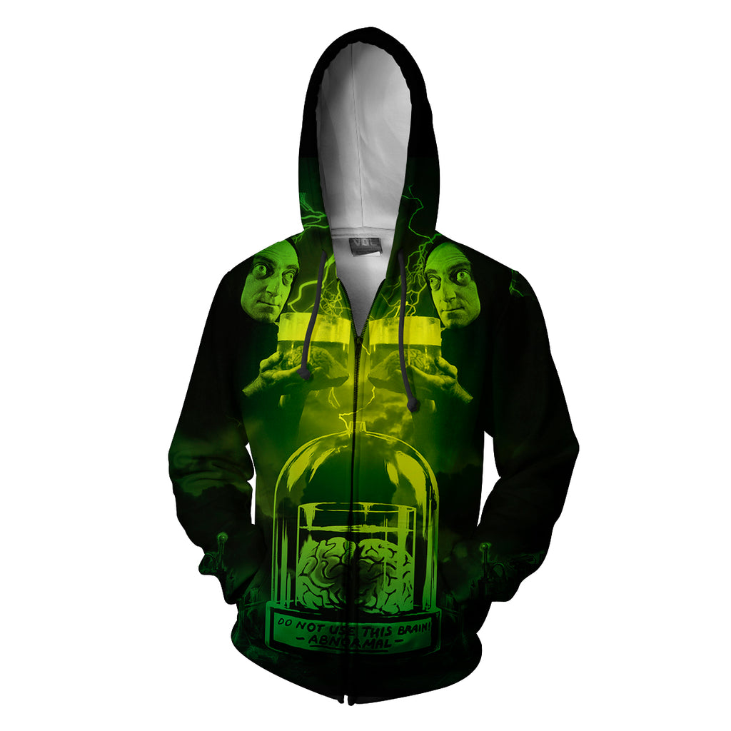 Young Frankenstein Abby Normal  Zip Up Hoodie