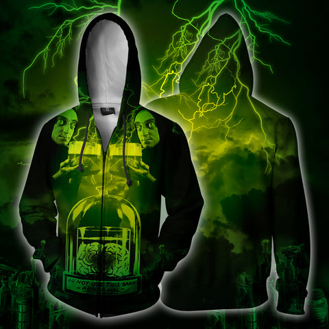 Image of Young Frankenstein Abby Normal  Zip Up Hoodie