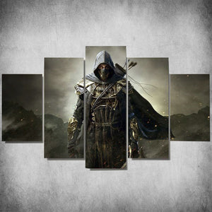 The Elder Scrolls 5 Pieces Canvas Painting Poster