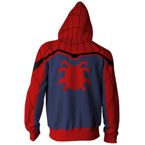 Image of Spider-Man Spiderman Spider Man Zip Up Hoodie