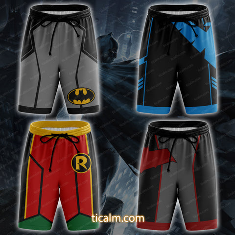 Image of Batman Nightwing Red Hood Robin Beach Shorts