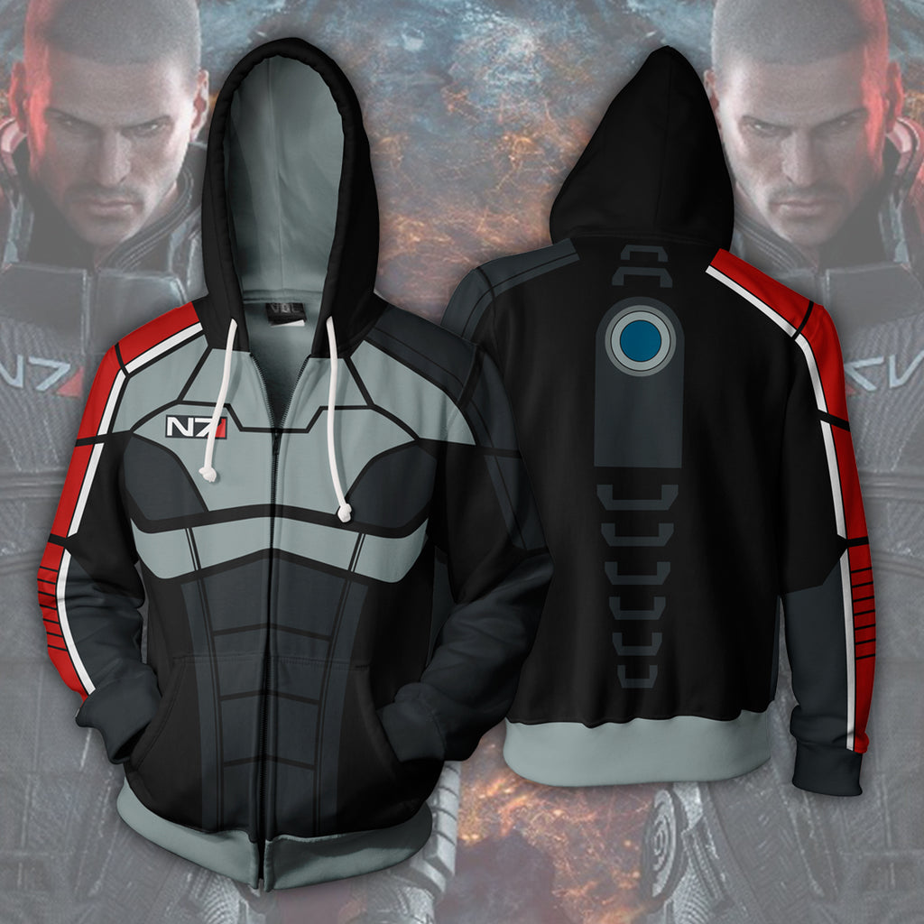 Mass Effect Zip Up Hoodie