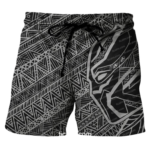 Image of Black Panther Print Shorts