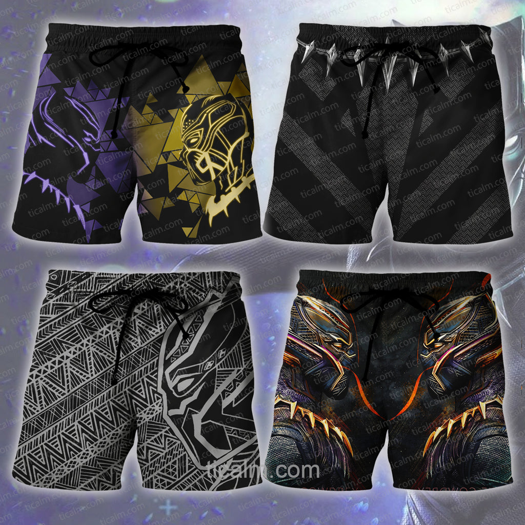 Black Panther Print Shorts