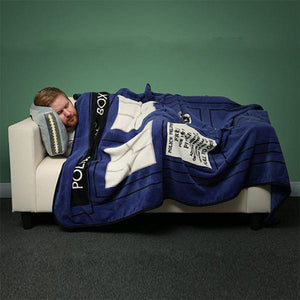 Doctor Who TARDIS Coral Fleece Throw Blanket Bed Sheet 127*226cm
