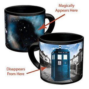 Dr. Who Tardis Heat Reveal Mug Color Changing Magical Mug