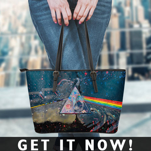 Image of Pink Floyd Small Leather Tote Bag
