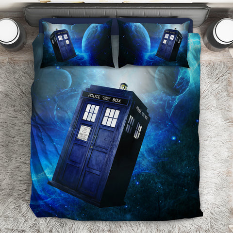 Image of Doctor Who Tardis Galaxy Bed Set