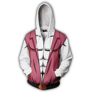 He Man Prince Adam Zip Up Hoodie