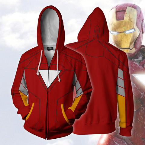 Image of Iron Man Zip Up Hoodie