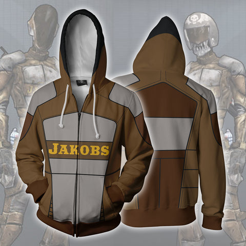 Image of Borderlands Jakobs Zip Up Hoodie