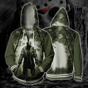 Jason Friday 13th Zip Up Hoodie