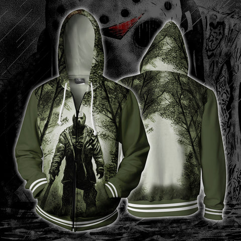 Image of Jason Friday 13th Zip Up Hoodie