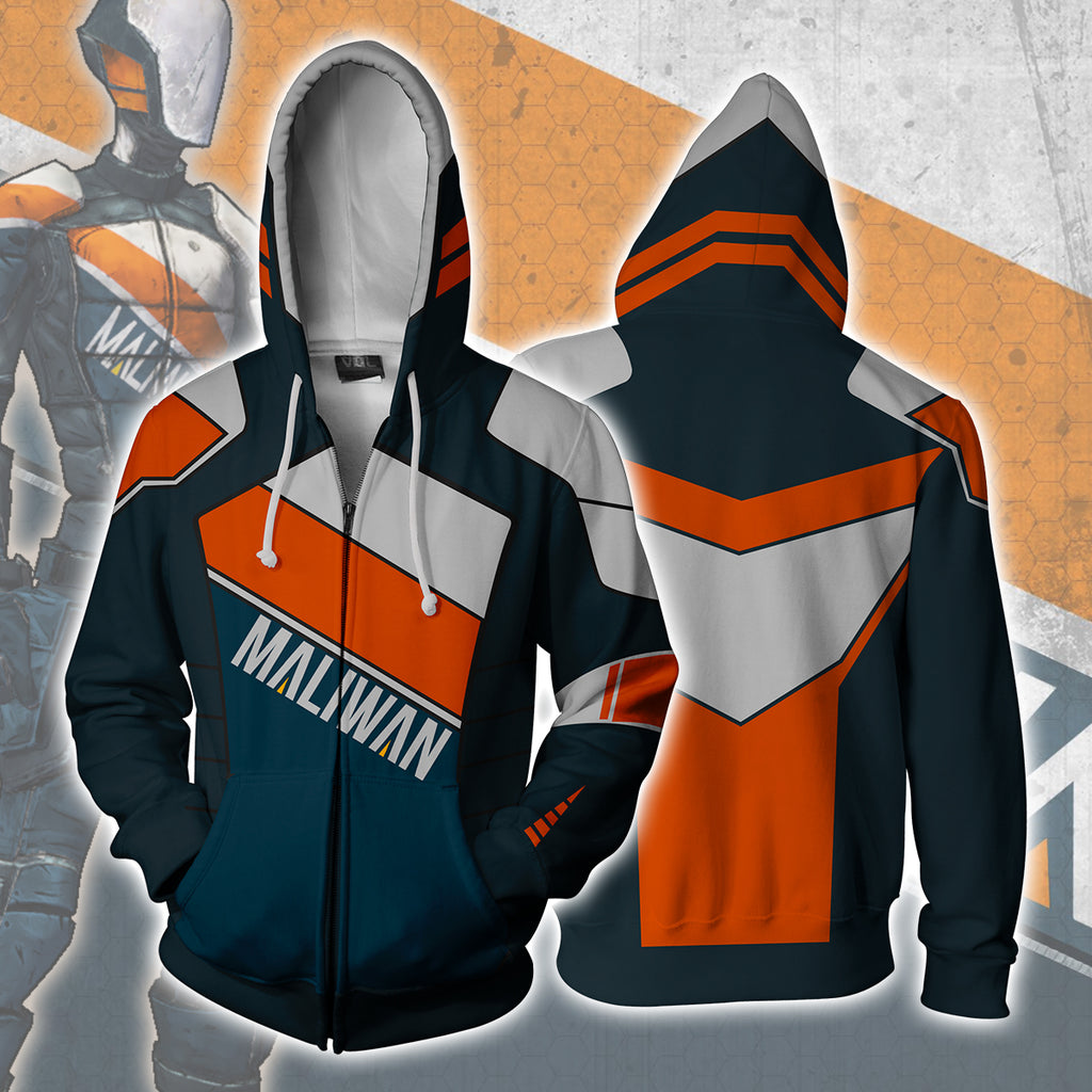 Borderlands Maliwan Zip Up Hoodie