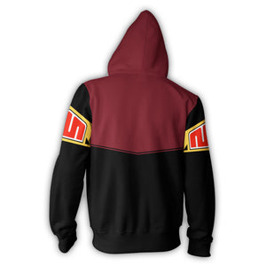 Megazord :Mighty Morphin Power Rangers Zip Up Hoodie