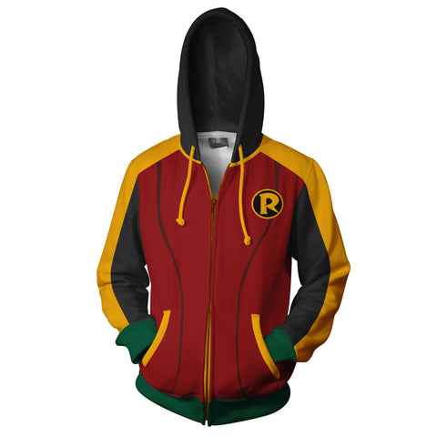 Image of Robin Damian Wayne Zip Up Hoodie