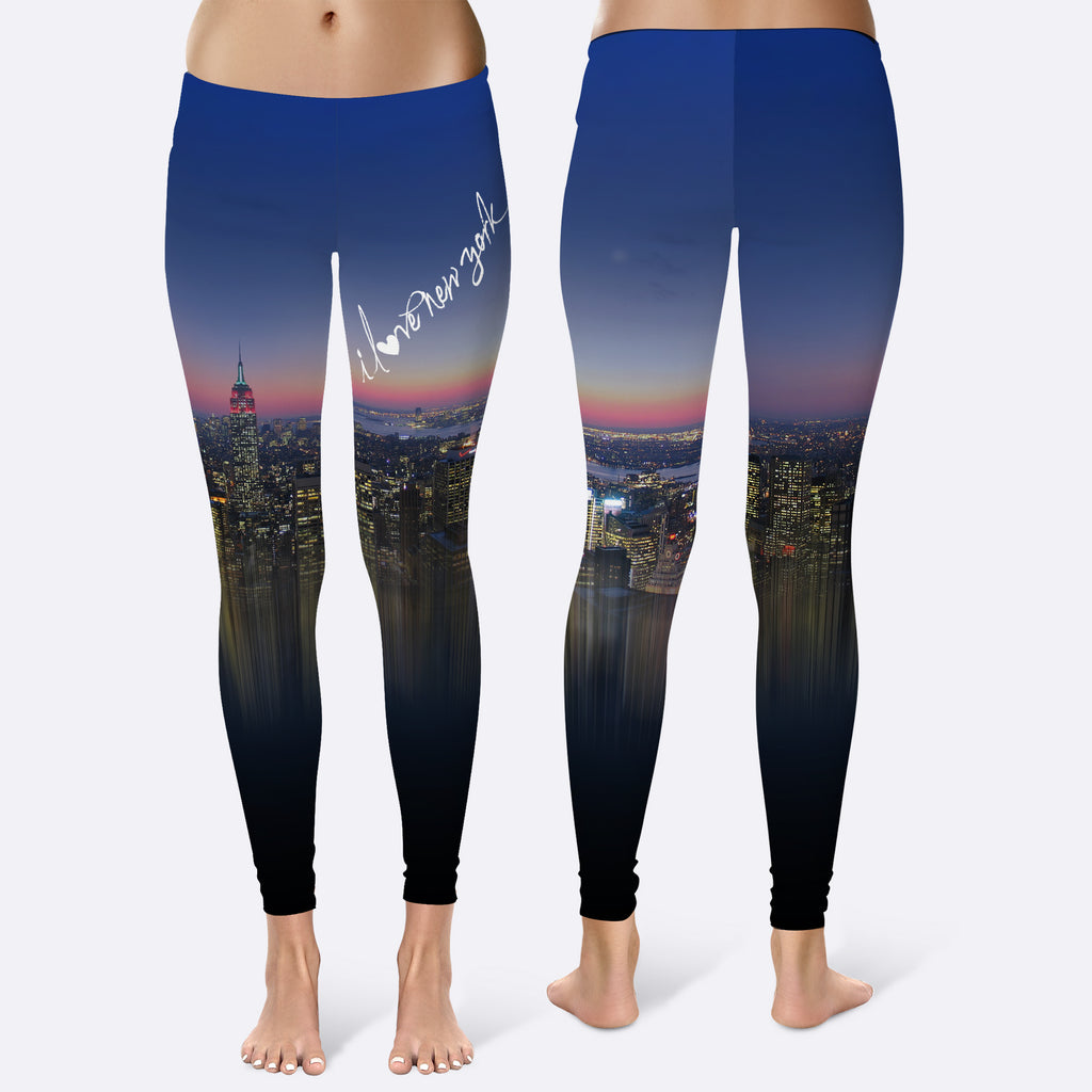I LOVE NEW YORK - BLUE SKY Leggings