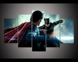 Batman v superman  5 pieces canvas poster