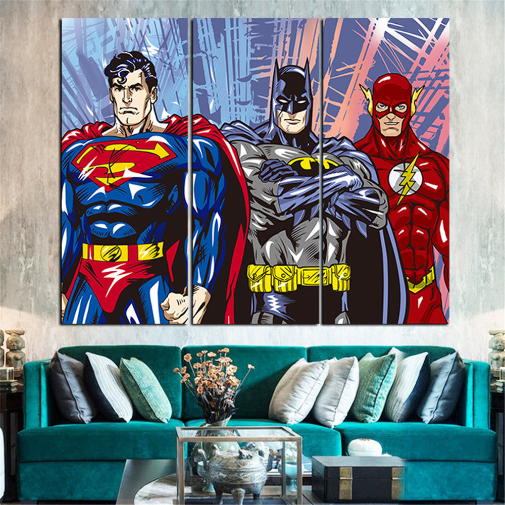 American Hero Oil Painting 5 Pieces Canvas Poster