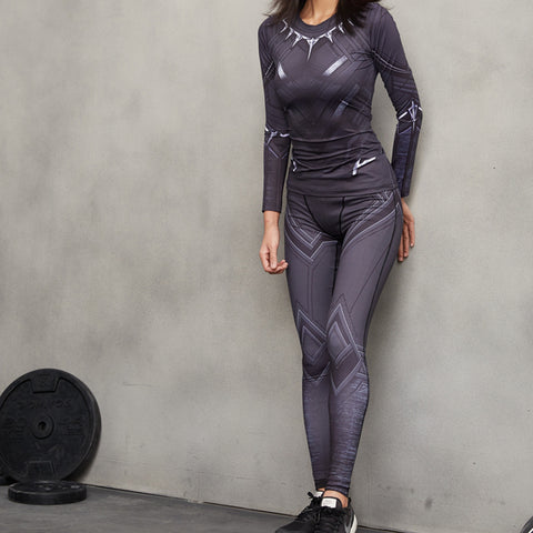 Image of Black Panther 3D Printed Pattern Women legging