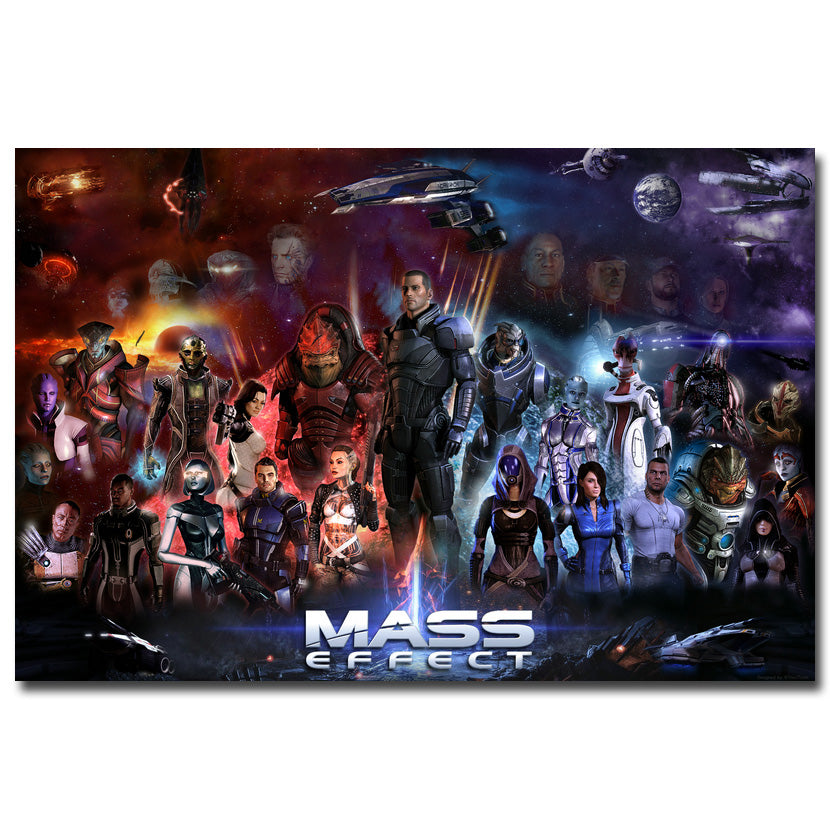 Mass Effect 2 3 4 Hot Shooting Action Game Art Silk Poster Print 12x18 24x36inch Poster