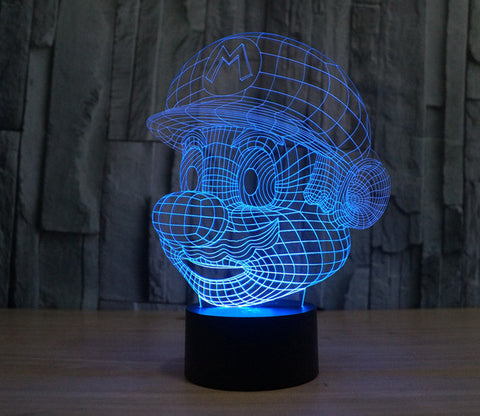 Image of Pokemon Cartoon Figure 3D Light Color Changed