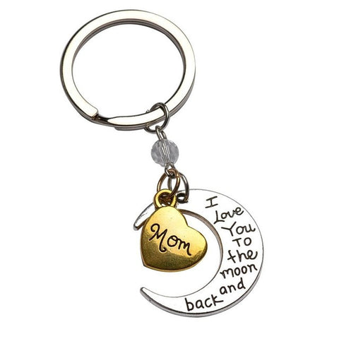 Image of Keychain Jewelry Sliver Moon Golden Heart For People You Love
