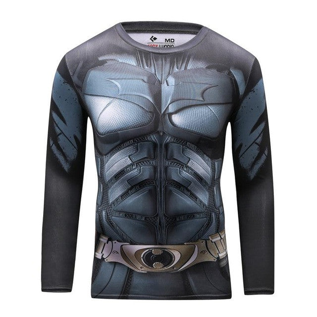 Superhero Long Sleeve Compression Shirt