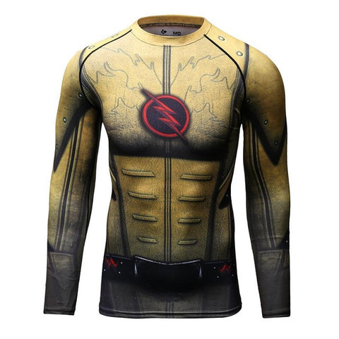 Image of Superhero Long Sleeve Compression Shirt