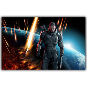 Mass Effect 2 3 4 Hot Shooting Action Game Art Silk Canvas Poster