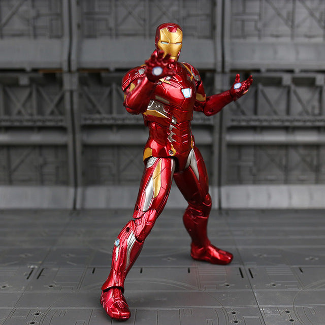 Captain America Black Panther Vision Falcon Iron Man PVC Action Figure toy