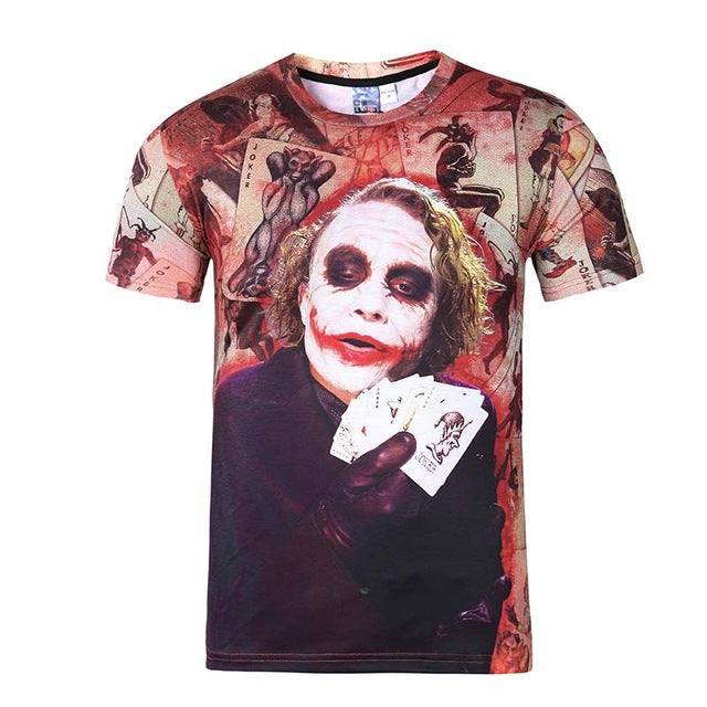 Joker Men's  Printed  3d T-shirt