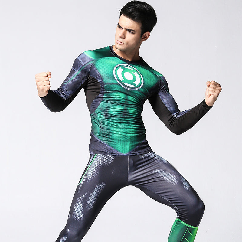 Green lantern iron men 3D  legging + T shirts