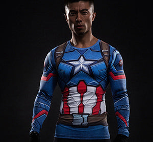 Captain America  Compression T-Shirt