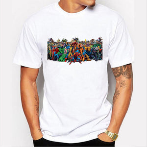 Superhero Iron Man Batman The Flash Superman big boy T-shirt
