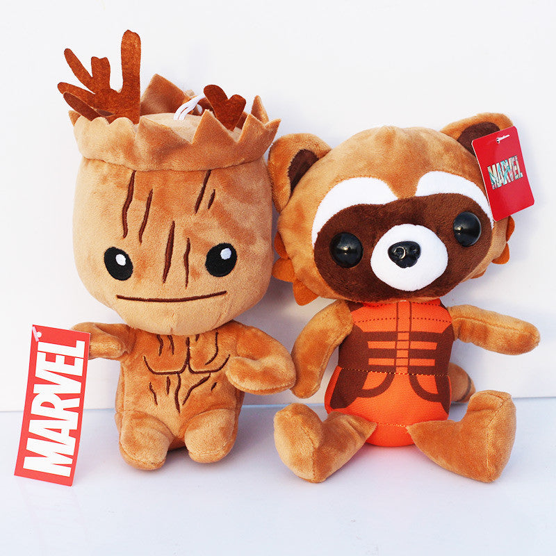 Guardians of the Galaxy Rocket Groot Plush Toy 20cm 2 Pcs/set