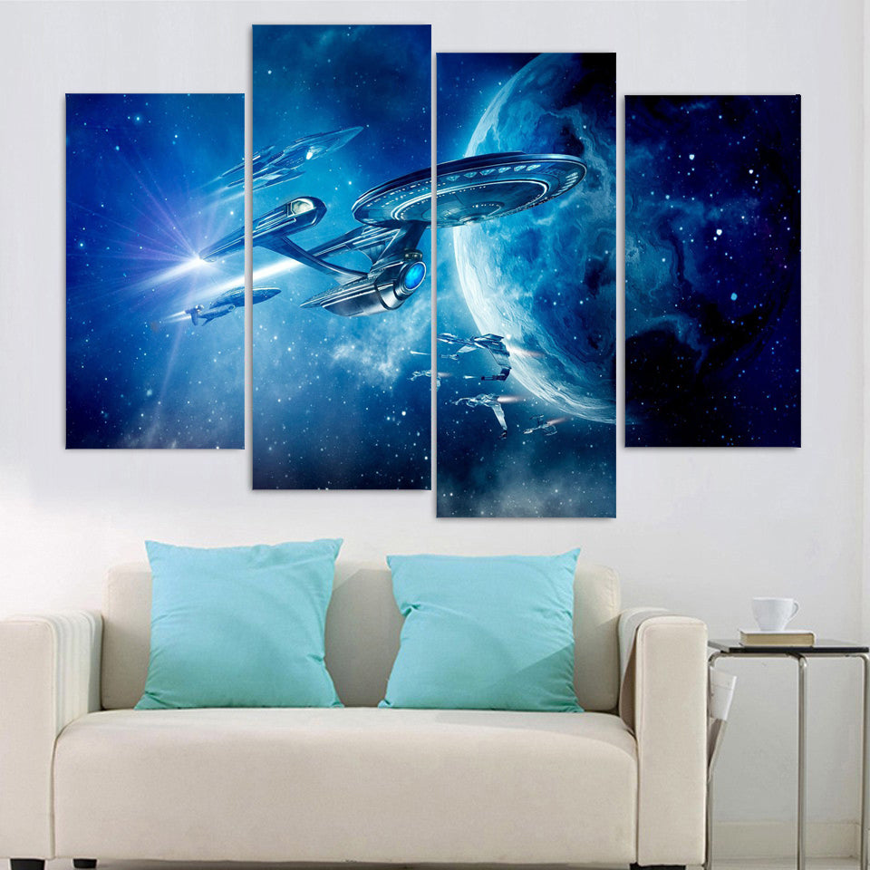 4 Pieces Star Trek Poster