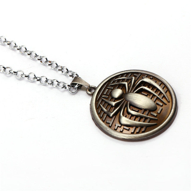 Spider-man Round Necklace