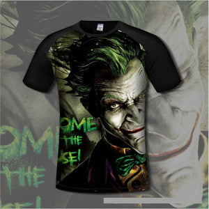 Anime Joker & Batman 3D Print T-shirts