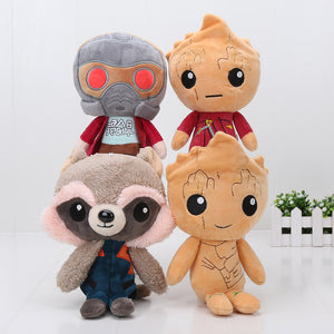 4pcs/set Guardians of the Galaxy Plush Toy 24cm