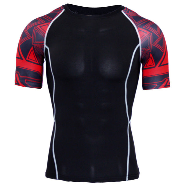 Skull Punisher Compression 3D T Shirt