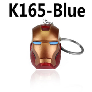 Marvel Super Hero The Avengers Iron Man Mask Rubber Keychain